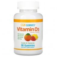 California Gold Nutrition Vitamin D3 - 90 жевательные конфеты