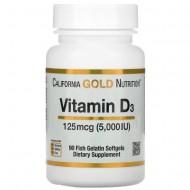 California Gold Nutrition Vitamin D3 125 mcg (5,000 IU) - 90 капсул