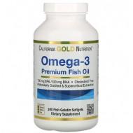 California Gold Nutrition Omega-3 Premium Fish Oil - 240 капсул