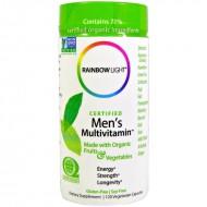 Rainbow Light Certified Men's Multivitamin - 120 вегетарианских капсул