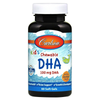 Carlson Labs Kid's Chewable DHA 100 mg 60 soft gels