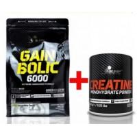 Комплект Olimp Gain Bolic 6000 (1 кг) + Olimp Creatine powder (250 грамм)