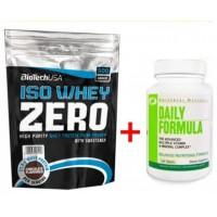 Комплект Biotech USA Iso Whey Zero (500 грамм) + DAILY FORMULA (100 tabs)