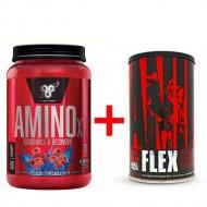 Комплект BSN -  Amino X 1 кг + Animal flex 44 пак
