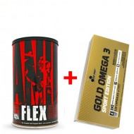 Комплект ANIMAL FLEX 44 ПАК + Gold Omega Sport Edition (120 капсул)