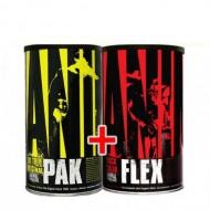 Комплект Universal nutrition – ANIMAL PAK 44 пак.  + ANIMAL FLEX 44 пак.