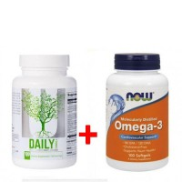 Комплект Universal Daily Formula - 100 таблетс + NOW Omega 3 - 100 капсул (431711)