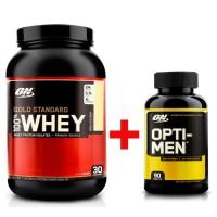 Комплект 100% Whey Gold Standard (907 грамм) +Opti-Men (90 таблетс)