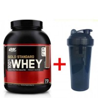 Optimum nutrition 100% Whey Gold Standard (2273 грамм) + Шейкер