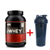 Optimum nutrition 100% Whey Gold Standard (907 грамм) + Шейкер