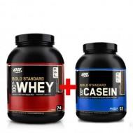 Комплект Optimum Nutrition Whey Gold Standard (2.27 кг) + Casein Gold Standard (1.8 кг)