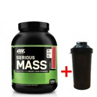 Optimum nutrition Serious Mass (2.7 кг) + ШЕЙКЕР  (217111)