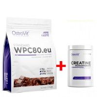 Ostrovit STANDARD WPC80.EU 2.27 kg + CREATINE MONOHYDRATE - 500 g (431717)