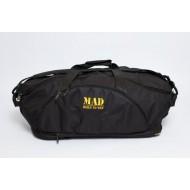 Сумка-рюкзак MAD Infinity Черная на желтой подкладке (40 л)