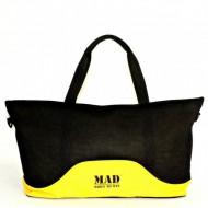 Женская спорт сумка MAD Lattice Желтая (23 л)