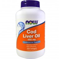 Cod Liver Oil 650 mg Softgels (250 Капсул)