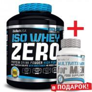 Iso Whey Zero (2.27 грамм) + Multivitamin for Men (60 таб) в ПОДАРОК!
