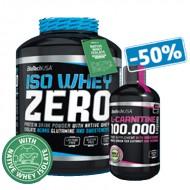 Iso Whey Zero (2.27 кг) + L-carnitine 100 000 (500 мл) -50% СКИДКА!