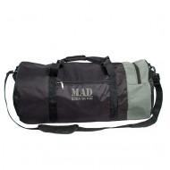 Большая спортивная сумка–тубус XXL 50L черно-серая