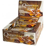 Блок батончиков Quest Protein Bar булочка с корицей (60 грамм) - 12 шт