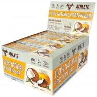 Блок батончиков - 12 шт Protein Bar Athlete Genetics (70 грамм) кокос