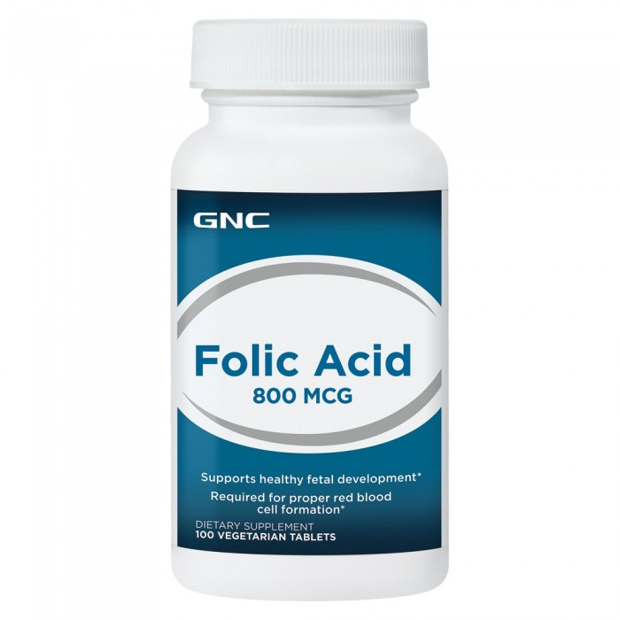Folic Acid 800 mcg (100 veg таблетс)