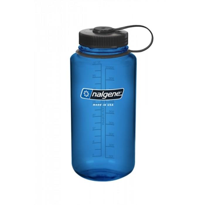 бутылка Nalgene Wide Mouth 1000ml Gray/Blue Loop