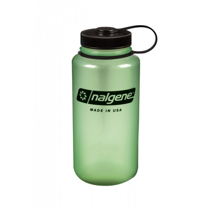 бутылка Nalgene Wide Mouth 1000ml Green Glow/Black Loop