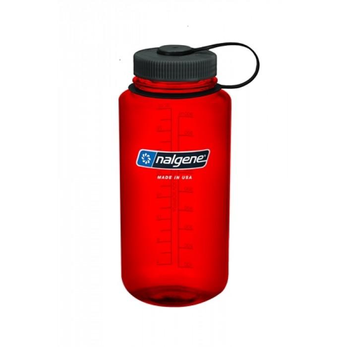 бутылка Nalgene Wide Mouth 1000ml Red/Black Loop