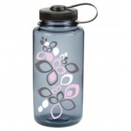 бутылка Nalgene Wide Mouth 1000ml Bloom Pink Gray /Black