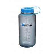 бутылка Nalgene Wide Mouth 1000ml Gray/Blue Logo