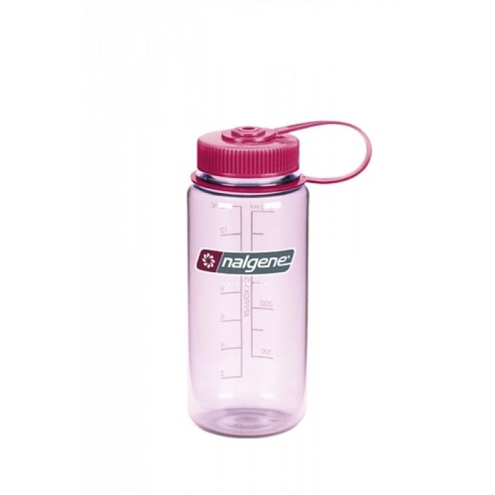 бутылка Nalgene Wide Mouth 500ml Clear/Pink