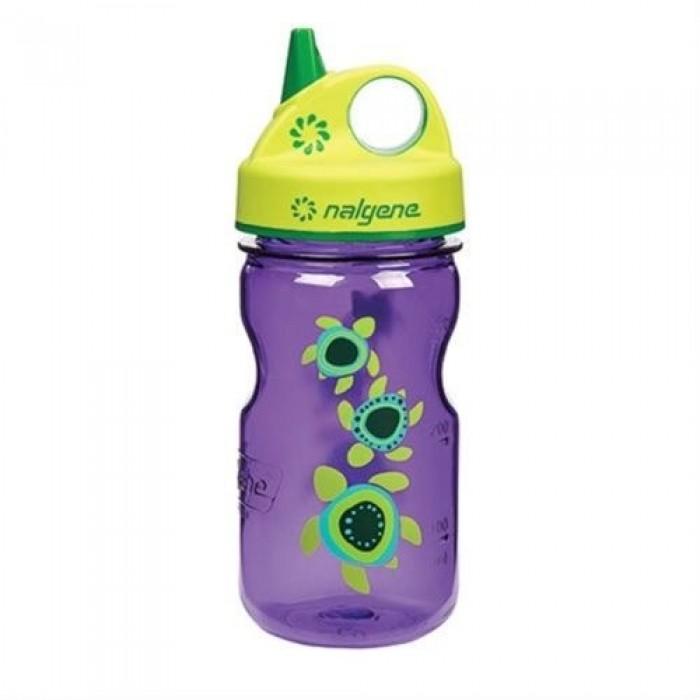 бутылка Nalgene Grip-n-Gulp 350ml Purple/Sea Turtles