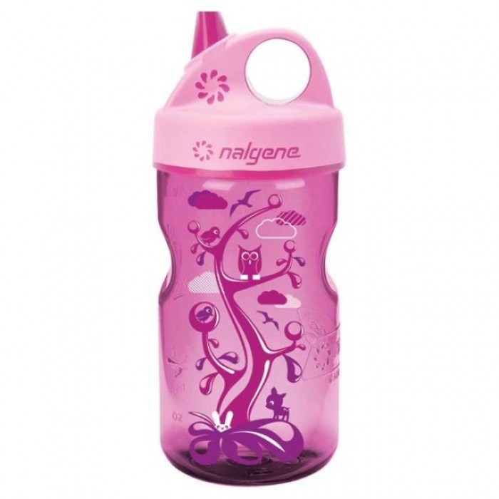 бутылка Nalgene Grip-n-Gulp 350ml Pink/Woodland
