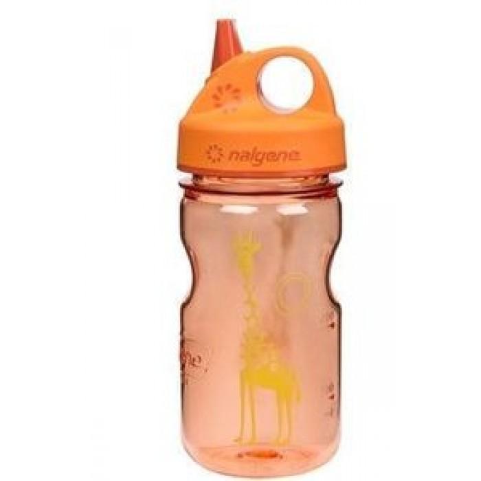 бутылка Nalgene Grip-n-Gulp 350ml Juicy Orange/Giraffe