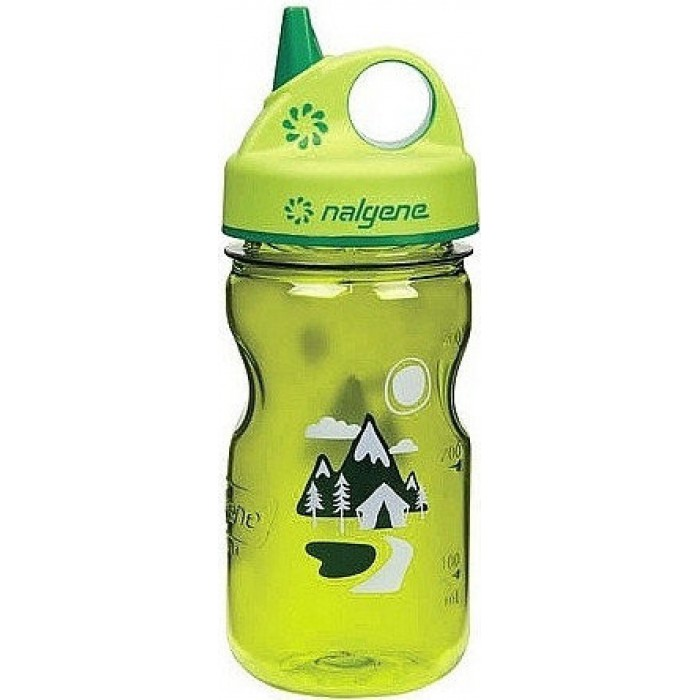 бутылка Nalgene Grip-n-Gulp 350ml Green/Trail