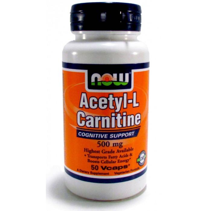 Acetyl-L-Carnitine 500 mg (50 veg капсулы)