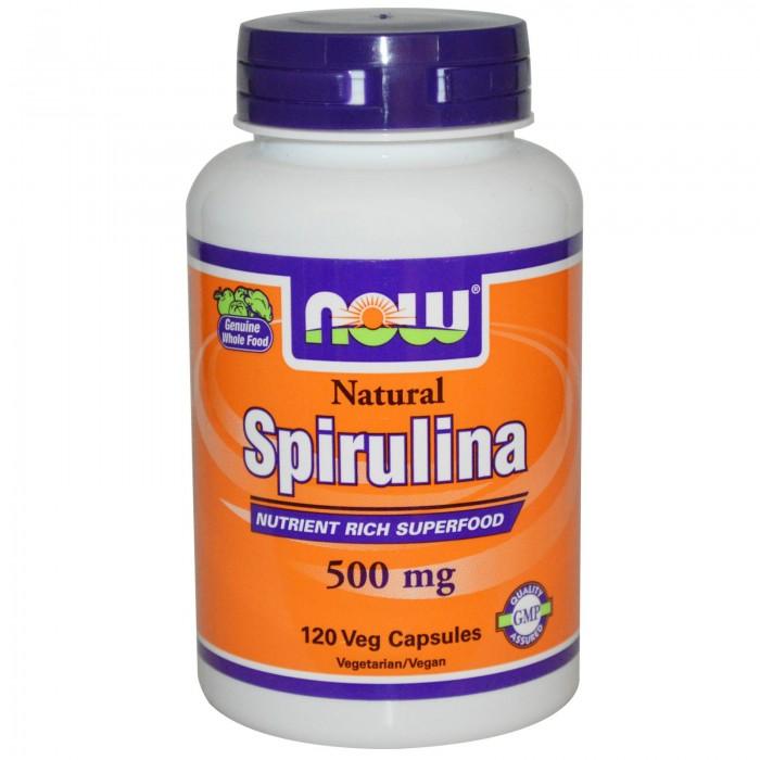 Natural Spirulina 500 mg (120 veg капсулы)