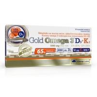 Gold Omega 3 65% D3+K2 (30 капсул)
