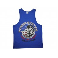 T-Shirt Tank Top BEAST Blue
