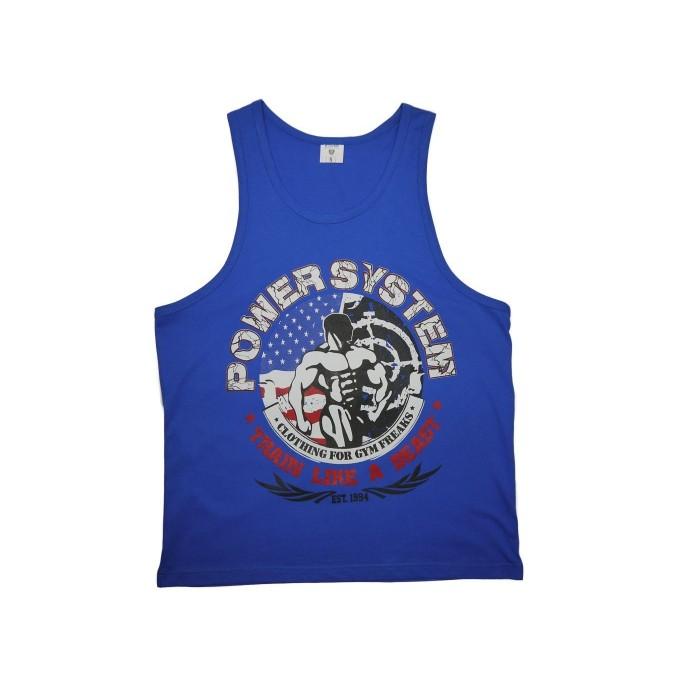 T-Shirt Tank Top BEAST Blue