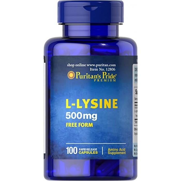 L-Lysine 500 mg (100 caplets)