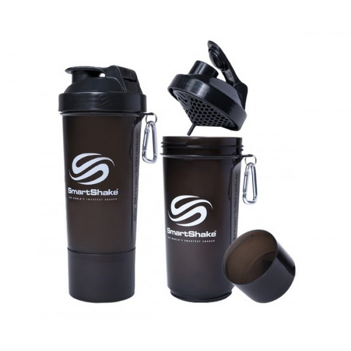 SmartShake Slim NEON Gunsmoke (500 мл )