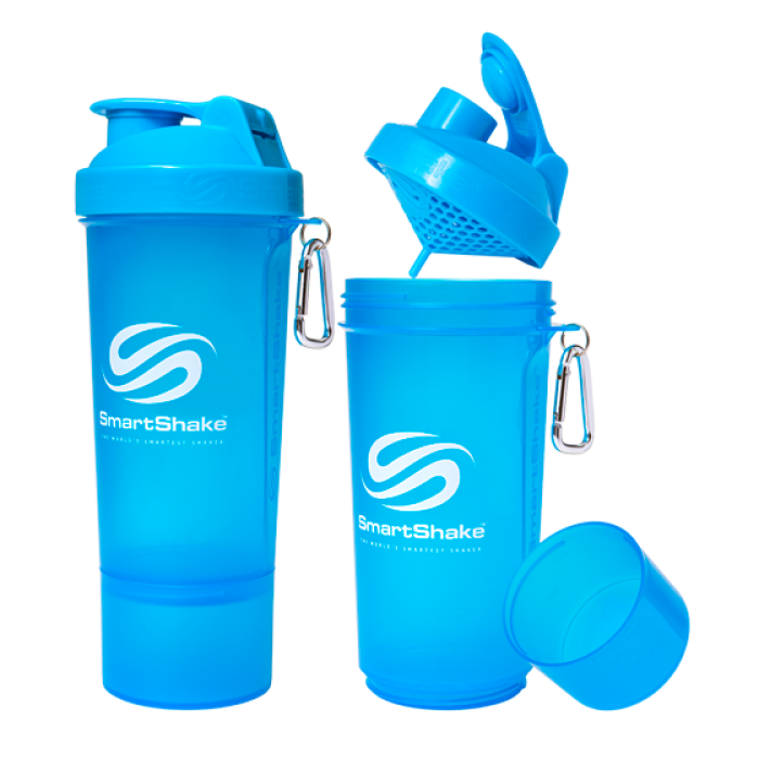 SmartShake Slim NEON Blue (500 мл )