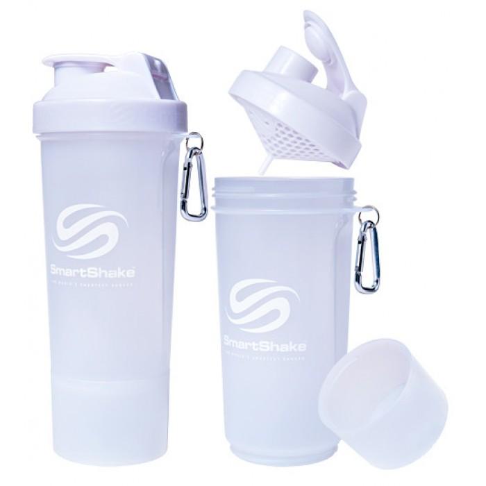 SmartShake Slim NEON Pure White (500 мл )