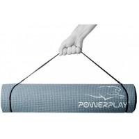 Коврик для фитнеса и йоги PowerPlay 4010 (183 * 61 * 0.4) Серый