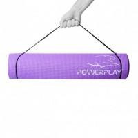 Коврик для фитнеса и йоги PowerPlay 4010 (183 * 61 * 0.4) фиолетовый