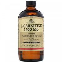 Solgar L-Carnitine 1500 mg 16 fl oz (473 ml) Natural Lemon Flavor