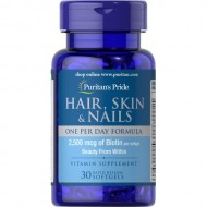 Hair, Skin & Nails One Per Day Formula (30 капсул)