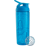 Шейкер Sleek c шариком 820 ml - аква (Aqua Tort Flow)